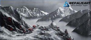 Mt.Everest & Amadablam Black & White