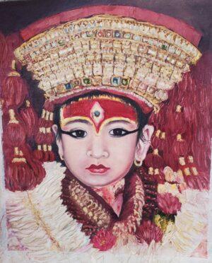 Kumari Old Painting